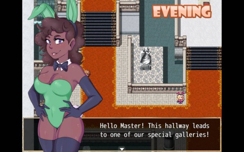 Town of Passion. protagonist speaks with a bunny in the bunny manor