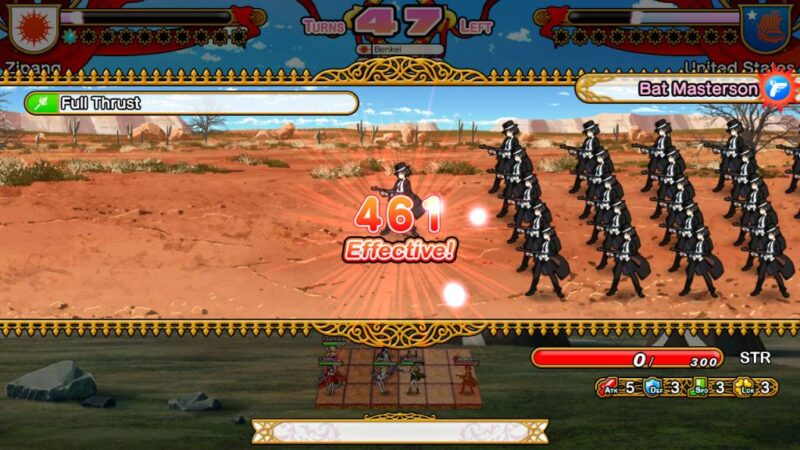 Eiyu Senki GOLD. enemy gunner platoon get damage in the battle screen