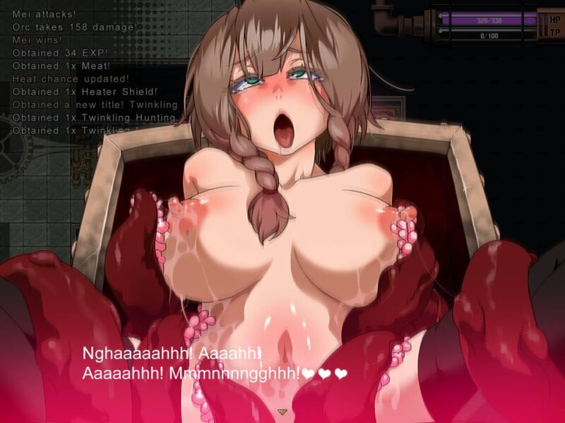 Explorer of Yggdrasil. mei gets fucked by an mimic by this tentacles, mei moans with an ahegao face