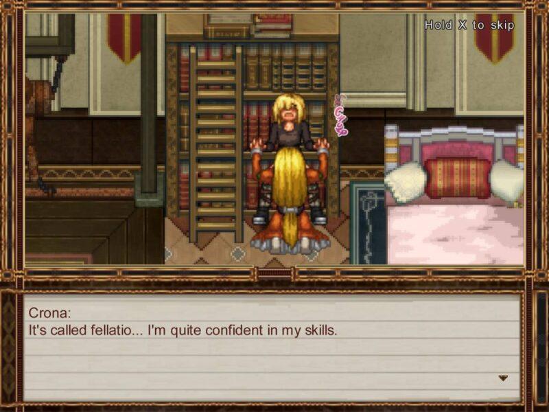 false myth. rouge gets a skilled blowjob by crona