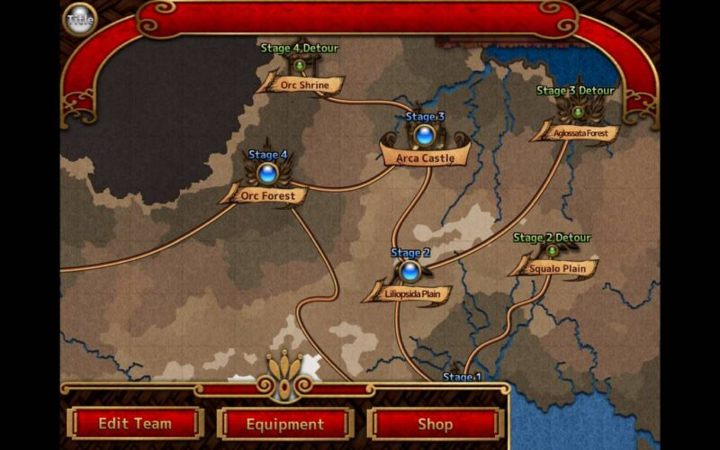Flying Princess Inter Breed. world map with an overview of the stages