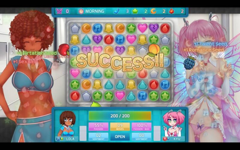 Hunie Pop 2. successfull date with lola and kyu