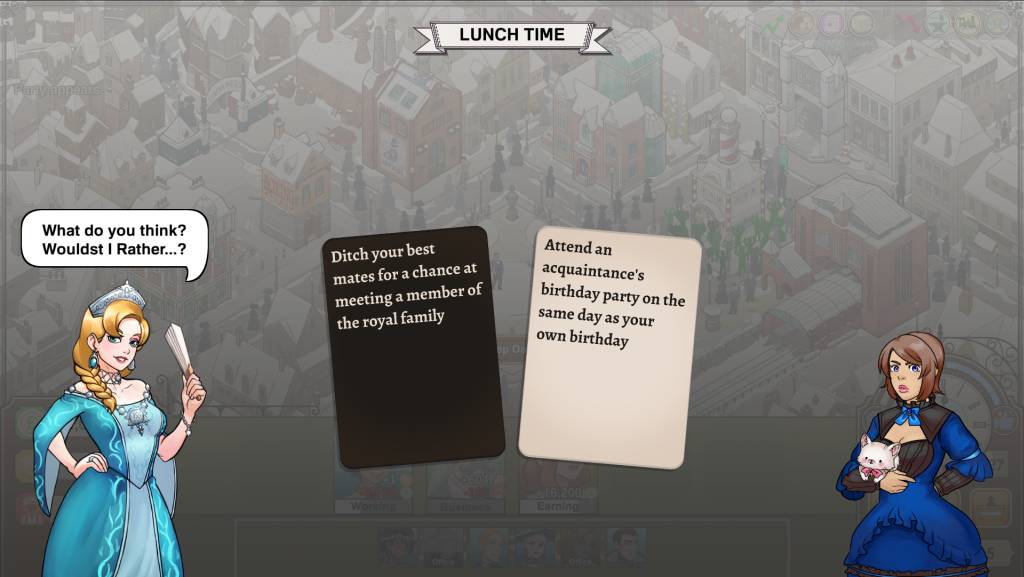 Max Gentlemen Sexy Business lunch time pick a card