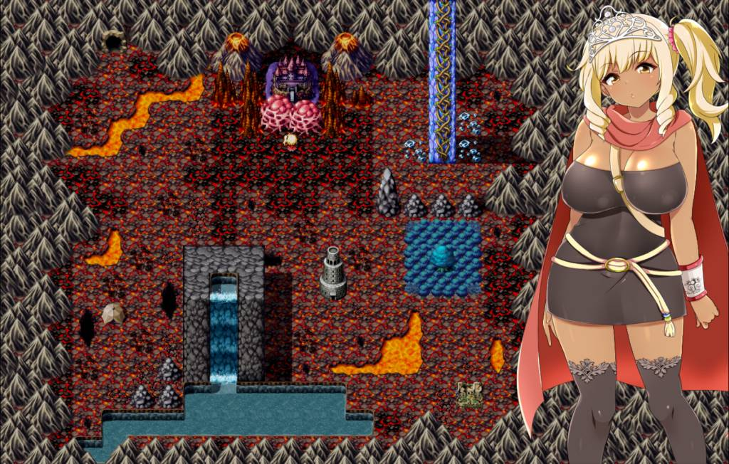 Meltys Quest. melty travels through the underground world where the demons reside