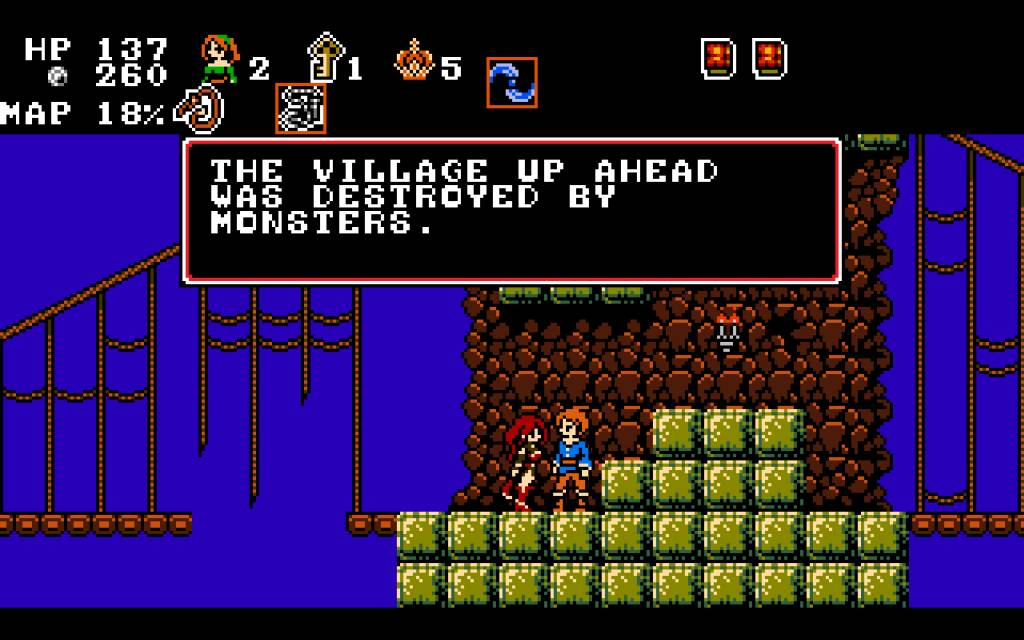 Midnight Castle Succubus. midway on the broken bridge, a villager tells you about a destroyed village up ahead