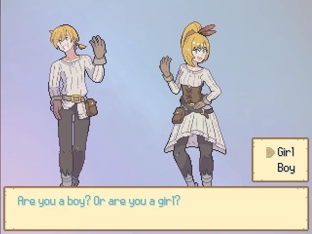 Monster Girl Odyssey. choosing between Girl or Boy