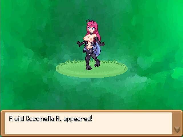 Monster Girl Odyssey. Shiny Coccinella appears. she got insect like arms and feet and feeler on her head