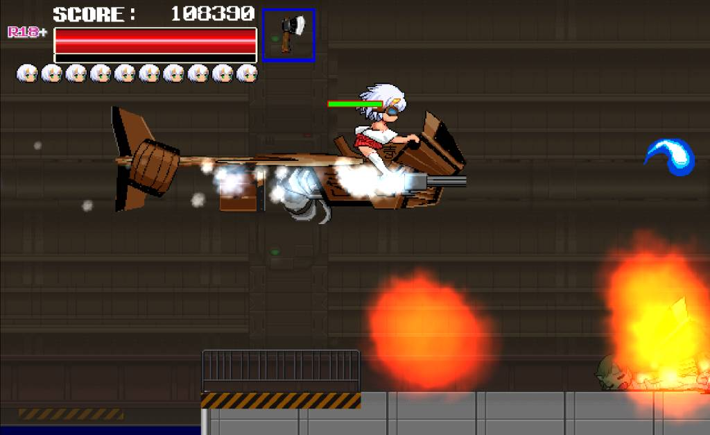 Monster Surprised You-ki Chan! you-ki flies with an aircraft and shoots on enemies