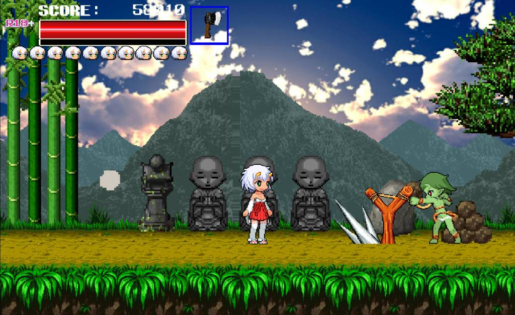 Monster Surprised You-ki Chan! goblin uses a stationary stone thrower to flinch stones at you-ki
