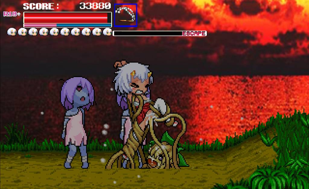 Monster Surprised You-ki Chan! you-ki is bound by plant monster, which cums in her with her tentacles