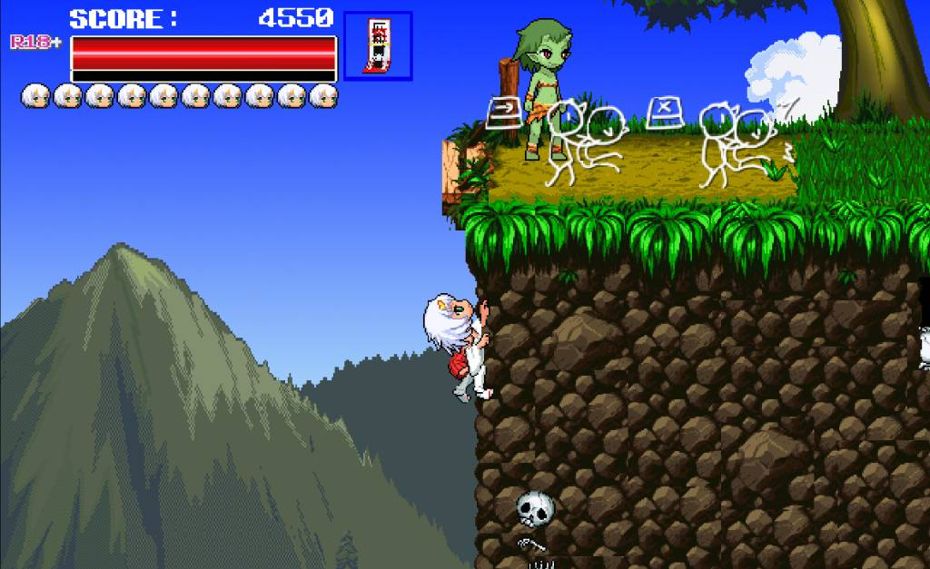 Monster Surprised You-ki Chan! you-ki climbs up a mountain to perform a sneak attack on a goblin