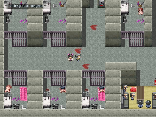 SNEAK IN DESPERADA. walking in the underground dungeon with cells full of naked woman and sex toys