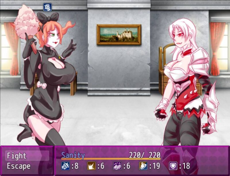 Victoria's Body. victoria battles against a maid in a sexy black outfit with a bow on her head